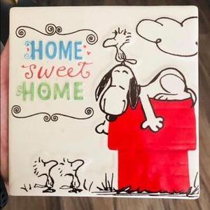 Hallmark Peanuts home sweet home ceramic tile